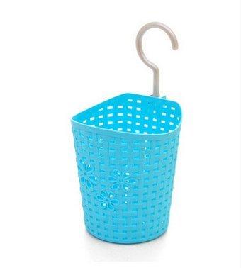 Storage Basket PlasticFreedi Bathroom Kitchen Hanging Organizer Holder for Shampoo Cosmetics Food Vegetable Blue