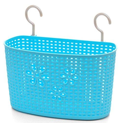 Storage Basket PlasticFreedi Bathroom Kitchen Hanging Organizer Holder for Shampoo Cosmetics Food Vegetable Large Blue