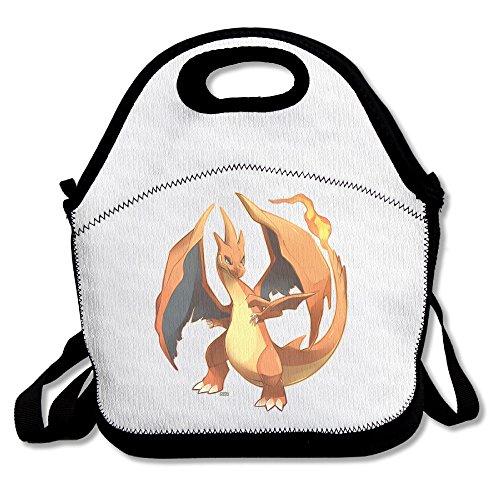 Funyoobag Charizard Fire Flying Pokemon Lunch Bunch Tote Handbag