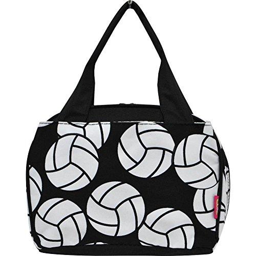 N Gil Sports Ball Girls Boys School Camping Insulated Lunch Box Bag Jp Black Volleyball