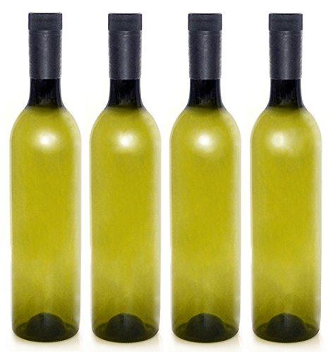 Plastic Wine Bottles Screw Caps 750ml - Pack of 4
