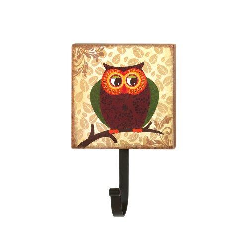 Koehler Home Indoor Outdoor Holiday Seasonal Decor Retro Owl Hanging Wall Mounted Hook