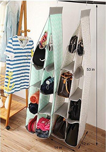 Hanging Handbag Closet Organizer bag organizer Purse Storage clothes organizer Green