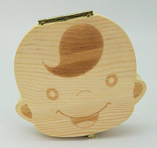 Baby Teeth Wooden Storage Box Album Kid Organizer for BOY Teeth Box