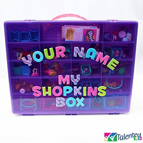 Talented Kidz Personalized Shopkins Compatible Organizer Purple