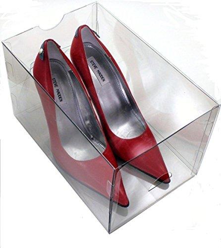 "Clear Shoe Box by Shoeb by 115"" L x 15 "" W x 8"" H  3 pack  High Heels"