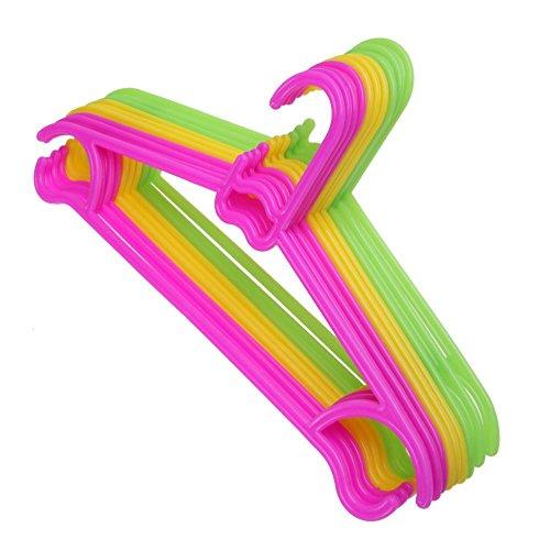 10PCS Non-Slip Plastic Kids Children Toddler Baby Clothes Coat Hangers Hook