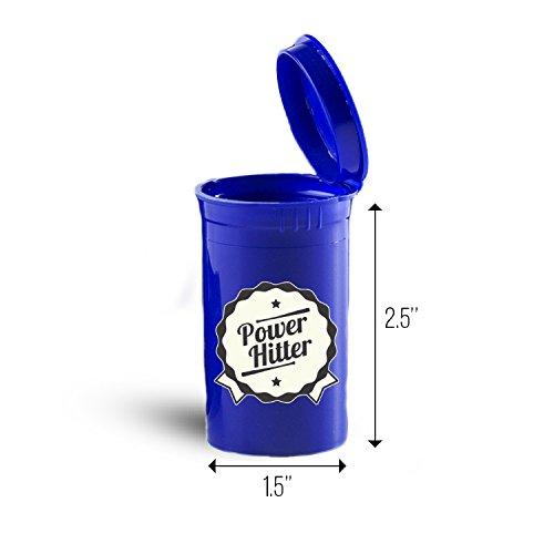 Power Hitter Baseball Sport Storage Organizer Bin for Vitamins ID 6025B