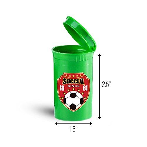 Soccer Badge Sport Storage Organizer Bin for Vitamins ID 6041G