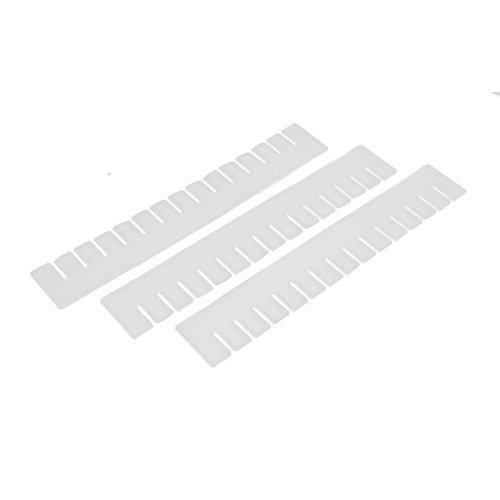 DealMux Plastic DIY Grid Drawer Divider Necessities Storage 3 Pcs Off White