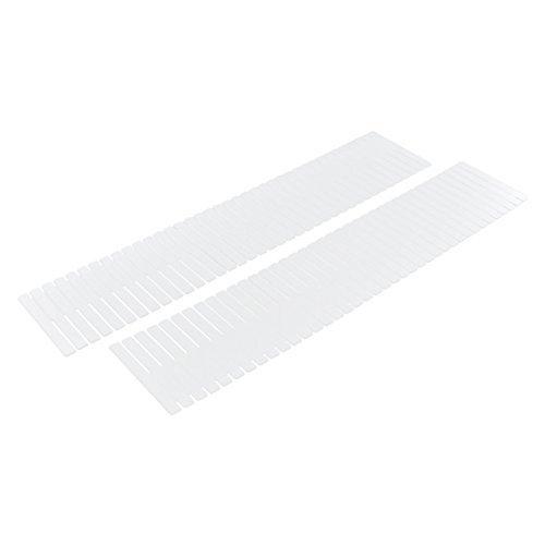 DealMux Plastic Home Closet Grid Drawer Divider Container Storage 2pcs White