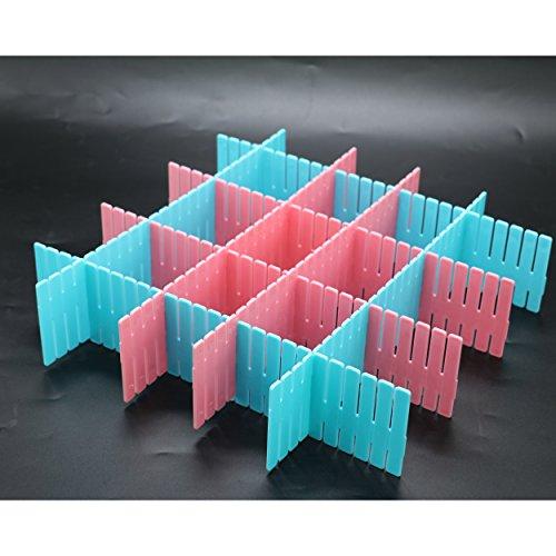 IDS 8 Pcs Plastic Drawer Clapboard DIY Grid Drawer Divider Household Necessities Storage Organizer