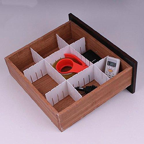 WXLAA 6Pcs Drawer Divider Home Grid Drawer Divider Storage Organizer
