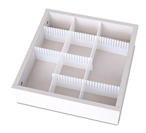 Ybmhome Adjustable Grid Drawer Dividers separators for Kitchen Bathroom Bedroom Dresser Utility Drawer Home Storage and Organization 2178b Adjustable Drawer Dividers Set of 3