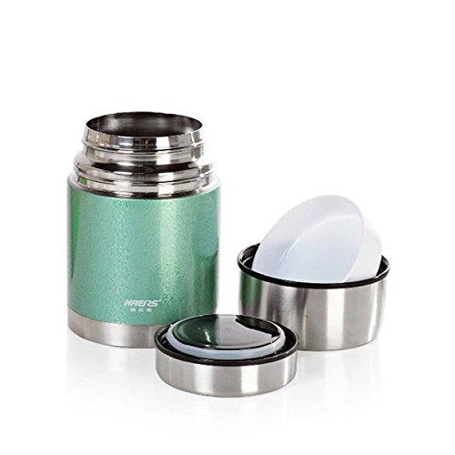 Bazaar 700ML HAERS Vacuum Food Burning Pot Insulated Food Jar Stainless Steel Thermal Lunchbox