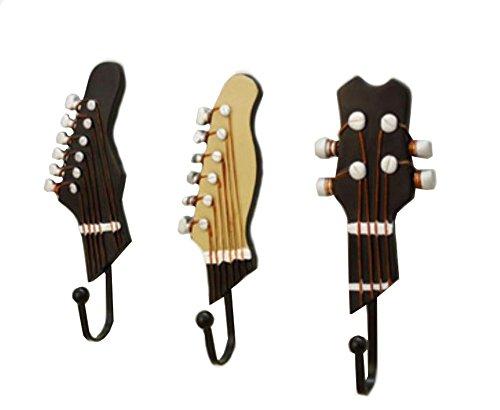 Ocharzy Utility Wall Hooks Hangers Set of 3 Guitar