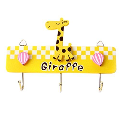 Steel Creative Utility Wall Hook Yellow Giraffe£¬Set of 2