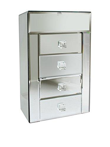 4-Drawer Mirror Jewelry Box