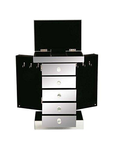 Deco 79 87227 Wood Mirror Jewelry Box 10 by 16