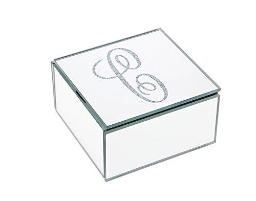 Philip Whitney 4x4 Mirror Jewelry Box Monogram C