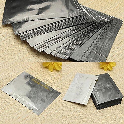 100x Silver Aluminum Foil Mylar Bag Vacuum Bags Sealer Zip Food Storage Package