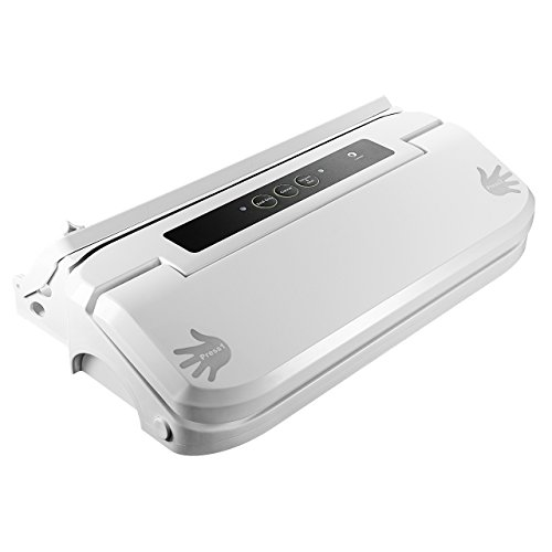 Pictek Vacuum Sealer with Cutter Easy One-Touch 2-in-1 Fully Automatic Food Vacuum Saver Sealing System Machine with Roll Holder and Cutter White