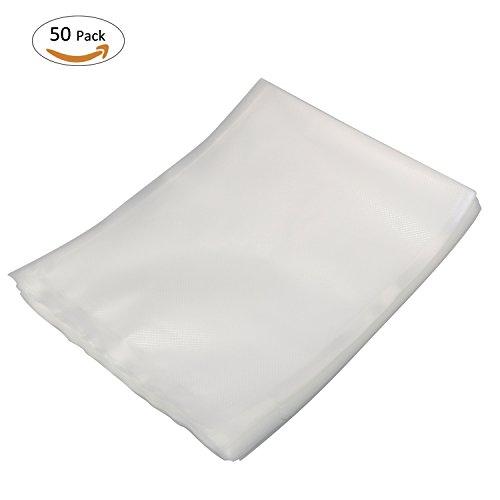 ONME 50Pcs Vacuum Sealer Bags - 78 X 98 Grade Vacuum Sealer Bags for Food Saver Vacuum Sealer Machine
