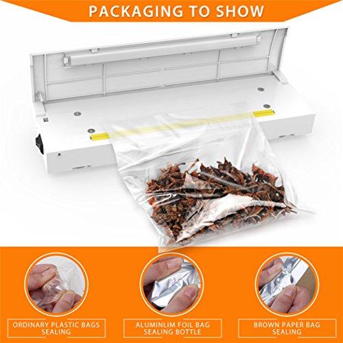 Picowe Portable Plastic Bag Sealing Machine Mini Vacuum Sealers White