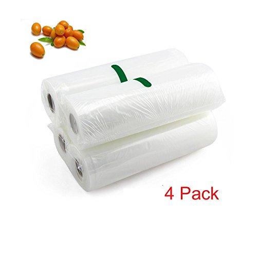 MIMINUO 2 pack 11x197 Vacuum Sealer Bags,20x500cm11x197 High Grade Vacuum Sealer Rolls Food Storage 66 feet in allVacuum Sealer Bag RollsBPA Free FDA Approved for Sous Vide 4