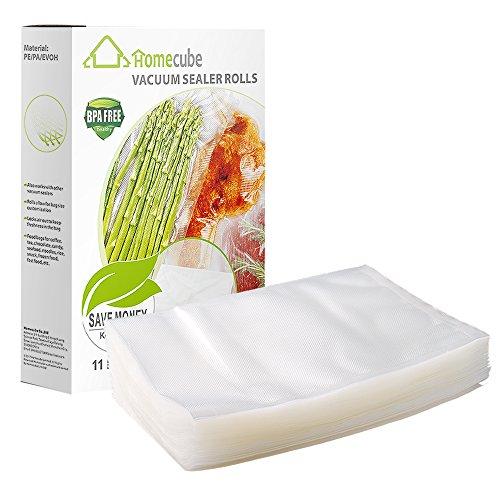 Vacuum Sealer BagsHomecube 100 Quart Size 8 x 12 Food Storage Saver Commercial Grade Food Sealer Bags for Sous Vide