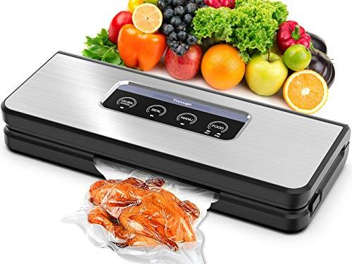 Vacuum Sealer Machine Toyuugo Automatic Vacuum Air Sealing System Food Sealer with Dry Moist Food ModesSous VideIntelligent LED Indicator Lights Starter Kit of Bags Hose for Food Preservation