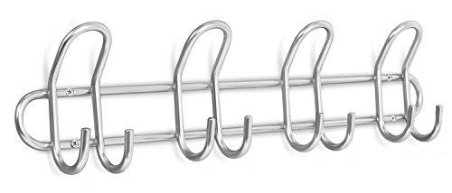 Internet's Best Double Wire Hook Rack  4 Hooks  Stainless Steel Coat and Hat Rack  Wall Mounted  Bathroom Towel Rail  Outdoor or Indoor