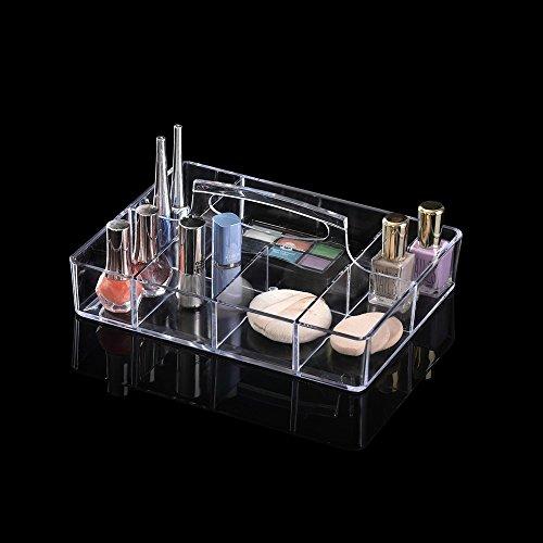 OnDisplay Deluxe Acrylic Rectangle CosmeticJewelry Organization Tray