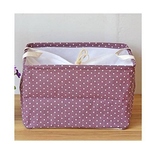 Fabric Storage Basket Foldable Storage Bins Laundry Hamper with Lid Nursery Hamper Makeup and Toys Storage Organizer Bins for Office Bedroom purple