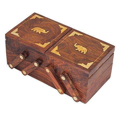 DIWALI GIFTDIWALI OFFER Craftsman Sliding Wooden Decorative Jewelry BoxChest Keepsake for Jewelry