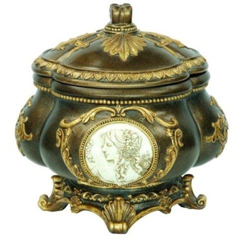 Ore International K-4192JX Handcrafted Decorative Jewelry Box 9-Inch