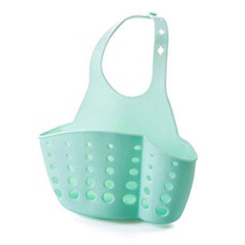 Stebcece Hanging Drain Basket Storage for Kitchen Bathroom-Blue