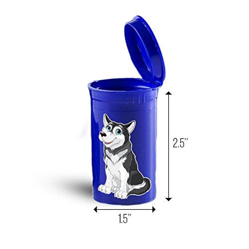 Alaskan Malamute Dog Storage Organizer Bin for Vitamins Supplements Health Supplies ID 1630B