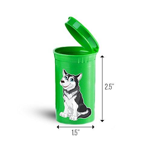 Alaskan Malamute Dog Storage Organizer Bin for Vitamins Supplements Health Supplies ID 1630G