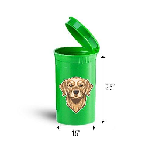 Golden Retriever Dog Storage Organizer Bin for Vitamins Supplements Health Supplies ID 1686G