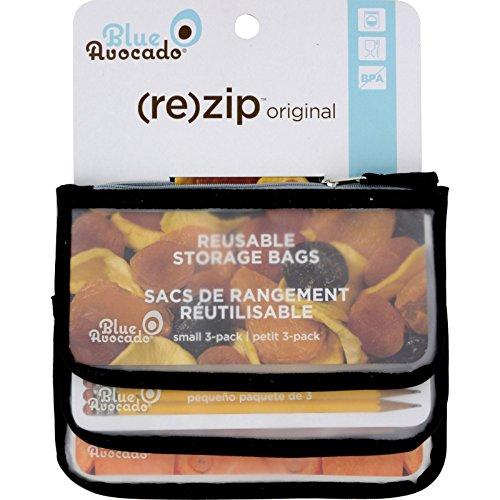 BlueAvocado Zip Seal Snack Bag - Black 3 BagS
