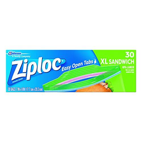 Ziploc Sandwich Bags X-Large 30-CountPack of 3