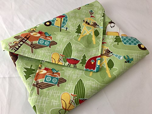 Reusable Sandwich Wrap - Road Trip in Green