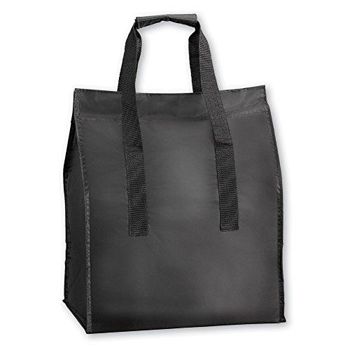 Large Insulated Market Food Bag Black