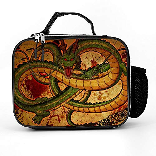 Mr Zhou Cool Dragon Ball Z Shenron Anime Lunch Box Bag for Men Women Lunch Tote for Adult Kids Lunch Cooler for Travel Office Work Outdoor Picnic