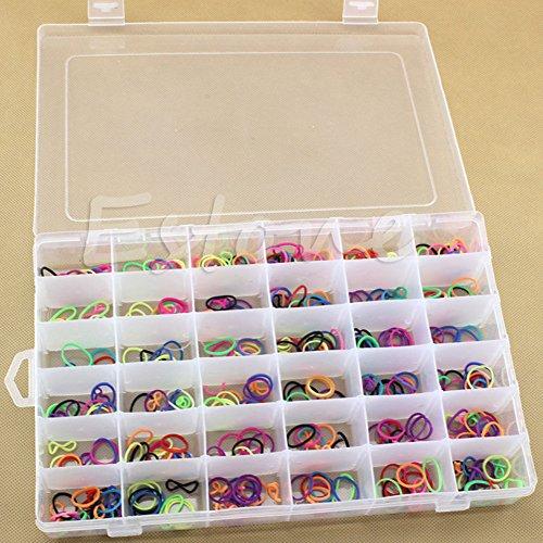 Kope 36 Grid  Slot Plastic Jewelry Adjustable Box Case Craft Organizer Storage Beads