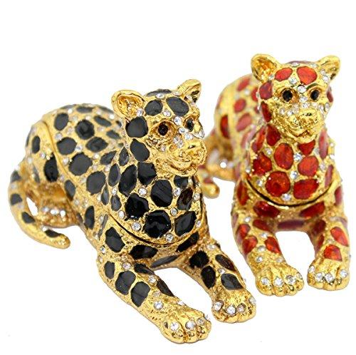 Cool Jaguar Leopard Jewelled Trinket Box Jewelry Box Handmade Jeweled Metal