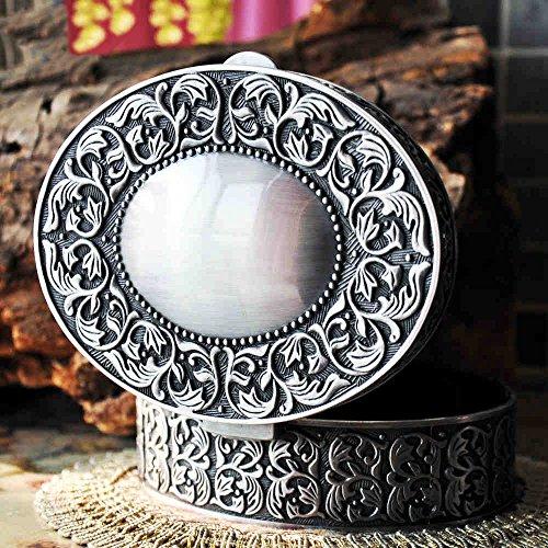 Royal- Mermaid tears Retro European Style Korean Princess Metal Jewelry Box Hand Jewelry Storage Box Jewelry Ring Box Gift