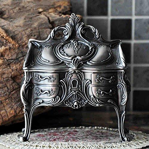 Royal- Retro European Style Korean Princess Metal Jewelry Box Hand Jewelry Storage Box Jewelry Ring Box Gift