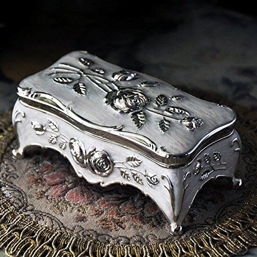 Royal- Retro European Style Korean Princess Metal Jewelry Box Hand Jewelry Storage Box Jewelry Ring Box Gift  Size  Small